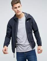 Hollister Hooded Windbreaker In Black