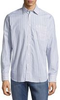 Façonnable Casual Button-Down Striped Cotton Shirt