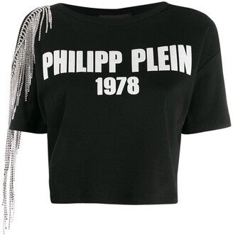 Philipp Plein cold shoulder T-shirt