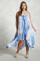 Forever 21 FOREVER 21+ Plus Size Tie-Dye Cami Dress
