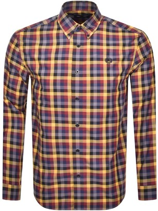 Fred Perry Gingham Check Shirt Gold