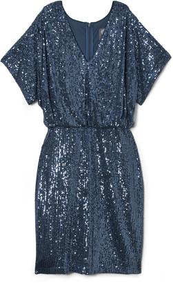 Vince Camuto Sequin Blouson Dress