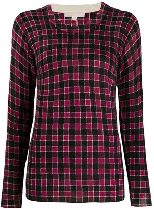 MICHAEL Michael Kors Plaid Knit Jumper