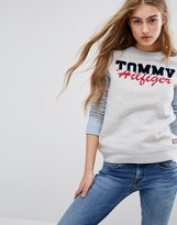Tommy Hilfiger Logo Sweatshirt with Contrast Sleeves