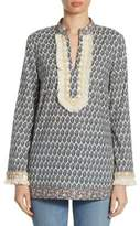 Tory Burch Fringed V-Neck Tunic