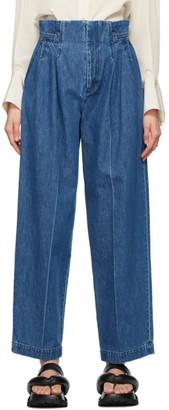 Mame Kurogouchi Blue High-Waisted Jeans