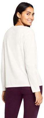 Lands' End Women's Long Sleeve Supima V-Neck T-Shirt