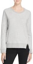 Sundry Distressed Zip Sweatshirt - 100% Bloomingdale's Exclusive
