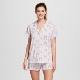 bride and beauties by BedHead Pajamas Bride & Beauties® by Bedhead Pajamas® Women's Notch Collar Classic Shorty Pajama Set - Champagne Hearts