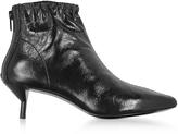 3.1 Phillip Lim Blitz Black Leather Kitten Heel Booties