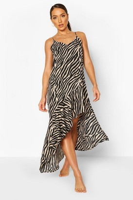 boohoo Zebra Beach Dress