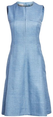 Akris Punto Sleeveless Raw Silk Sheath Dress