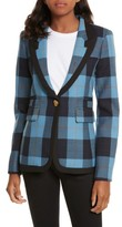 Smythe Women's Taped Peak Lapel Plaid Blazer