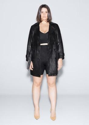 MANGO Violeta BY High-waist shape leggings black - M - Plus sizes