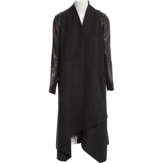 Kaufman Franco Kaufmanfranco Anthracite Wool Coat for Women