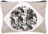 Tibi Graphic Print Woven Pouch