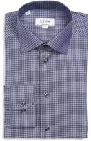 Eton Men's Contemporary Fit Houndstooth Dress Shirt