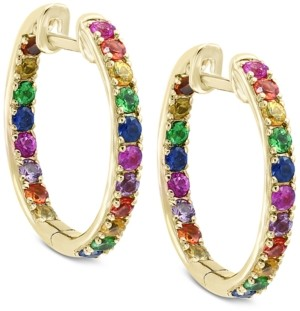 Effy Watercolors by Multi-Gemstone Hoop Earrings (1-3/4 ct. t.w.) in 14k Gold