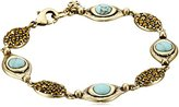 Lucky Brand Turquoise Link Bracelet, 8""
