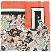 Burberry floral print scarf