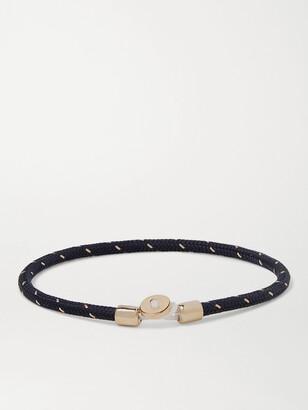 Miansai Nexus Woven Nylon And Gold Vermeil Bracelet