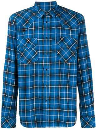 Diesel Check Flannel Western Shirt