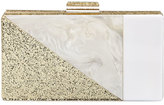 Neiman Marcus Colorblock Resin Box Clutch Bag
