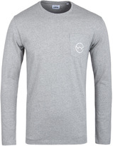 Edwin Pocket Logo Grey Marl Long Sleeve T-shirt