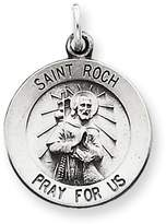1928 Gold and Watches Sterling Silver Antiqued Saint Roch Medal