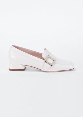 Roger Vivier Leather Buckle Slip-On Loafers