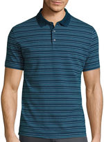 Claiborne Short-Sleeve Slim-Fit Stripe Polo