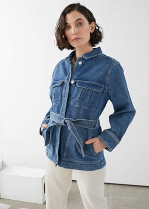 And other stories Belted Oversized Denim Jacket