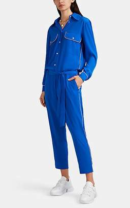 Mira Mikati Women's Daisy-Detailed Crepe Button-Front Jumpsuit - Blue