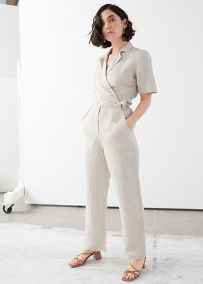 And other stories Short-Sleeved Wrap Jumpsuit