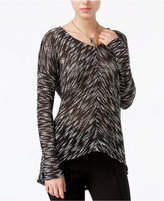 Bar III Marled High-Low Sweater, Only at Macy's
