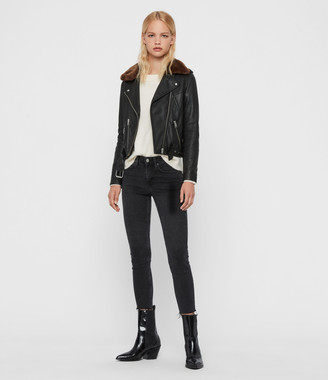 AllSaints Rigby Lux Leather Biker Jacket