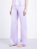 Marjolaine Soie Unie silk pyjama bottoms