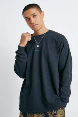 Urban Outfitters Iets Frans... iets frans... Washed Black Long-Sleeve T-Shirt - black S at