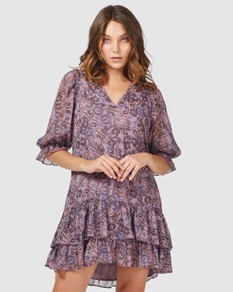 Three of Something Wisteria Paisley Star Dress