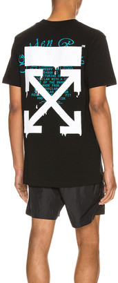 Off-White Dripping Arrows Slim Tee in Black & White | FWRD