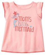 "Gymboree Mom's Little Mermaid"" Flutter Sleeve T-Shirt in Pink"