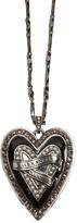 Alexander McQueen Heart Locket embellished pendant necklace