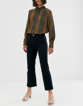 And other stories & cropped flare jeans in black