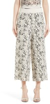Women's Victor Alfaro Zebra Print Gaucho Pants