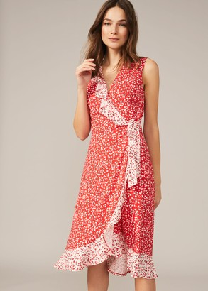 Phase Eight Ebony Floral Ditsy Wrap Dress