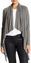 Mono B Lightweight Knit Draped Cardigan