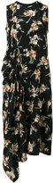 Marni floral asymmetric dress - women - Silk - 40