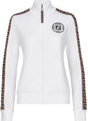 Fendi Side Monogram Panel Logo Print Jacket