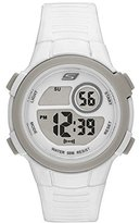 Skechers Women's 'Ring Digi' Quartz Plastic Casual Watch, Color:White (Model: SR2067)