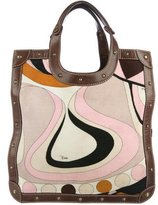 Emilio Pucci Leather-Trimmed Corduroy Tote